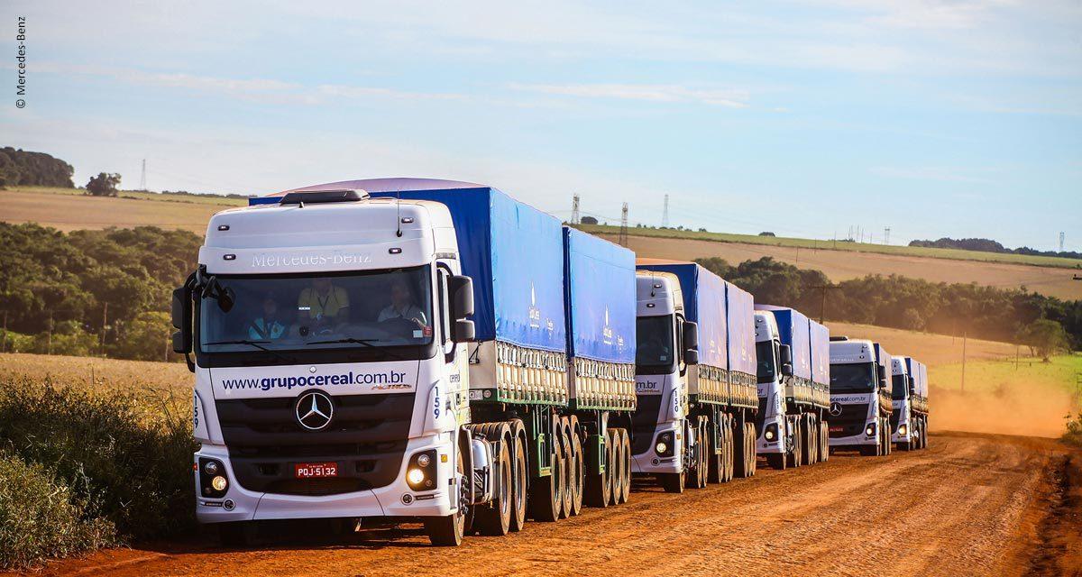 Mercedes-Benz expõe caminhões e veículos comerciais leves na AgroBrasília
