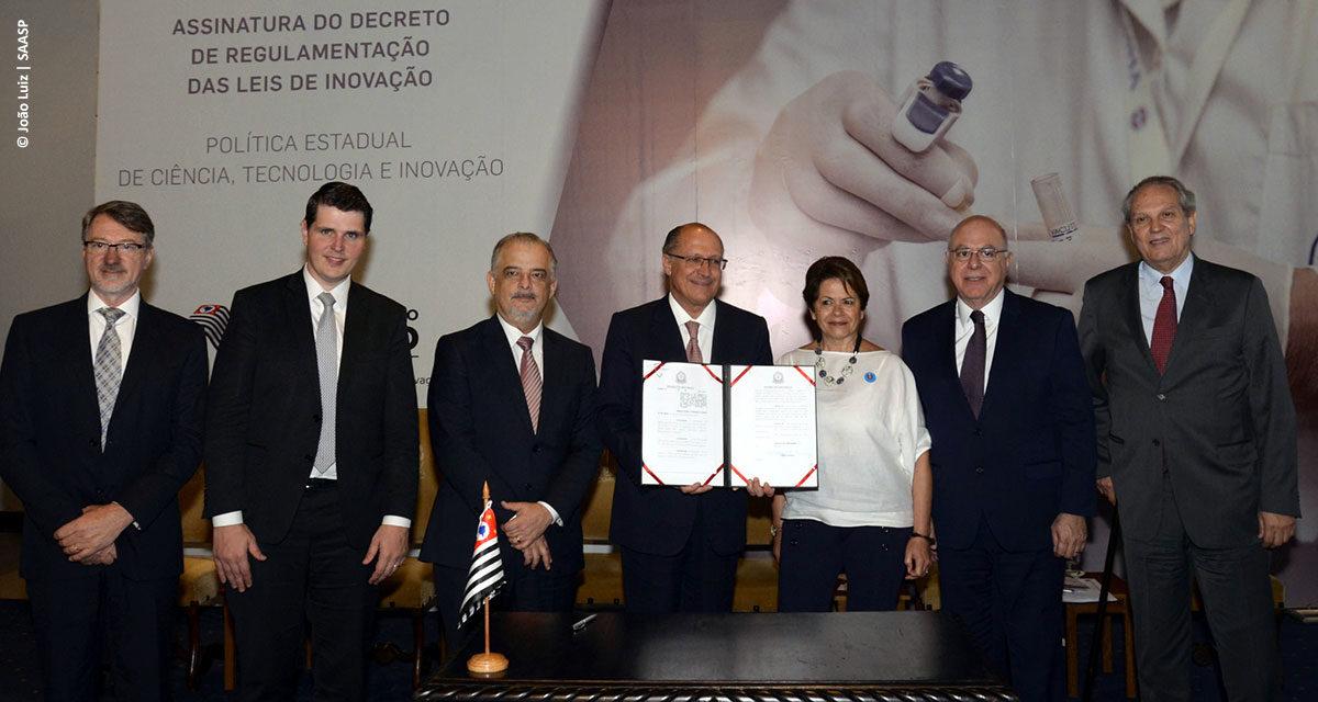 Governador de São Paulo regulamenta lei para garantir segurança jurídica e incentivar parcerias na pesquisa paulista