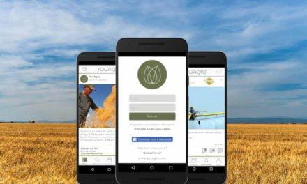 Novo aplicativo social para mundo Agro