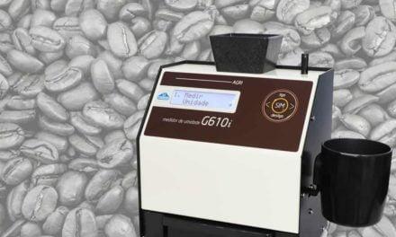 Gehaka mostra medidor de umidade de grãos no 8º Simpósio Regional de Café Conilon