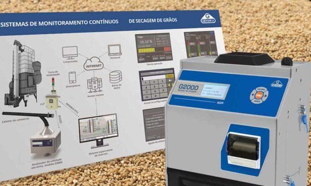 Gehaka apresenta medidores e um sistema automático de monitoramento de umidade de grãos