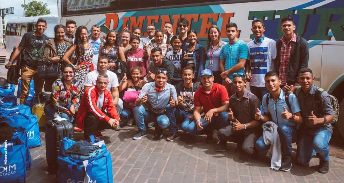 Comprometida com a pluralidade, Minerva Foods adere à estratégia de interiorização da Operação Acolhida