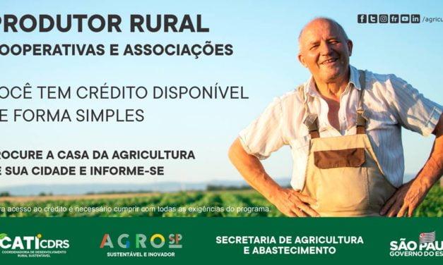 Governo de São Paulo tem crédito disponível para Produtor Rural, Associações e Cooperativas